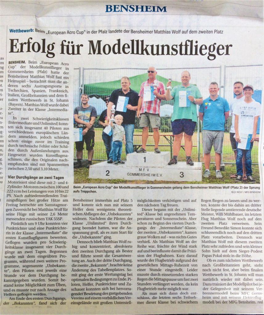 Matthias Wolf zum Erfolg beim European Acro Cup